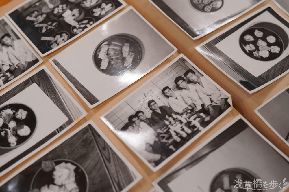 研究会の記録写真。「当時は夜営業のあと、自ら居残って始発が来るまで大根のかつらむきの練習とかしていたよ」と大山さん。