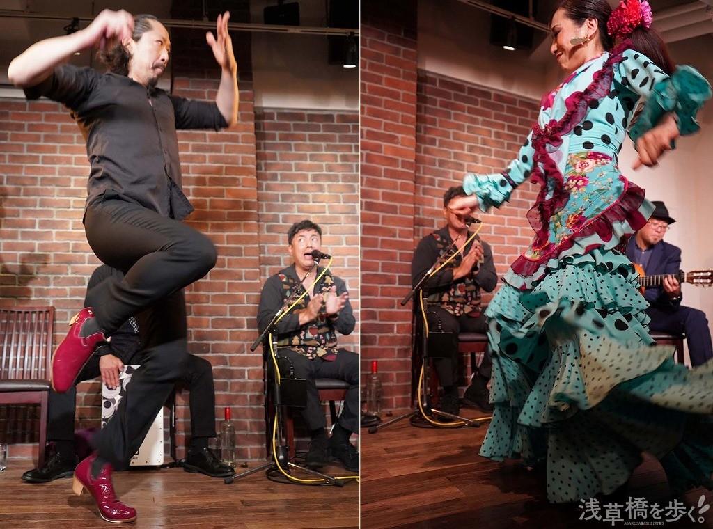 パルマ(手拍子)の稲田進氏のダンス、迫力があってかっこいい。