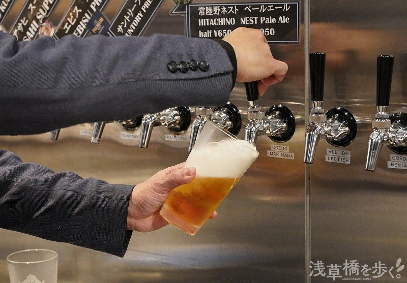 タップから注がれるクラフトビールは嬉しい~