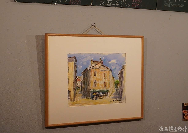 アルザス地方の絵画や写真も飾られている。